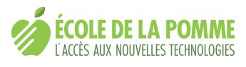 Logo: École de la pomme, l'accès aux nouvelles technologies